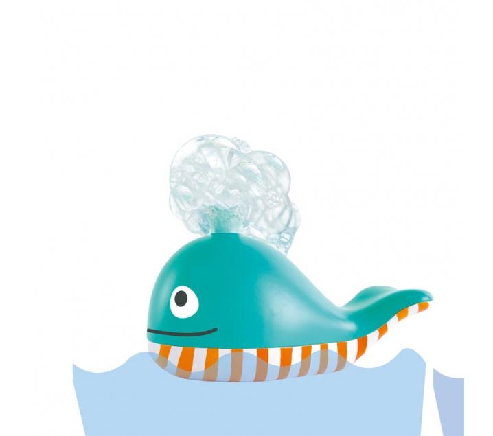 Ballena de burbujas para la bañera
