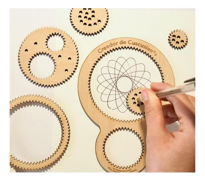 Espirògraf de fusta