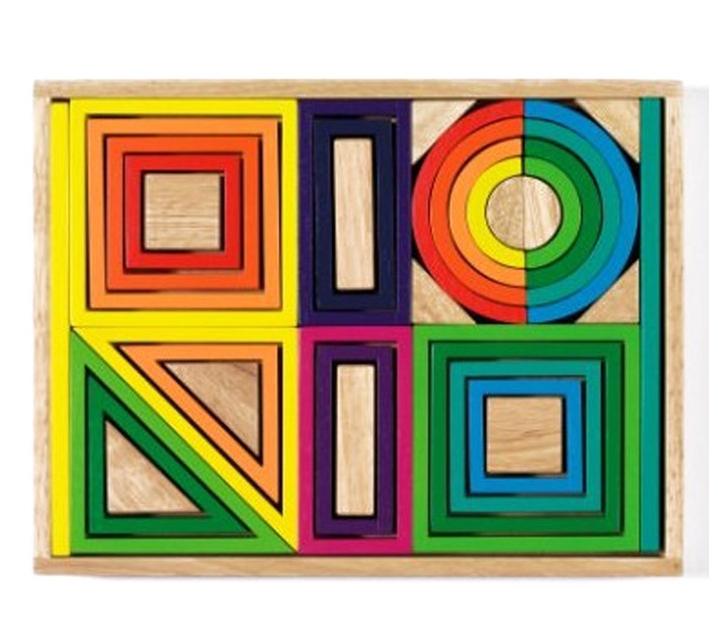 Piezas de Construcción Formas Geométricas