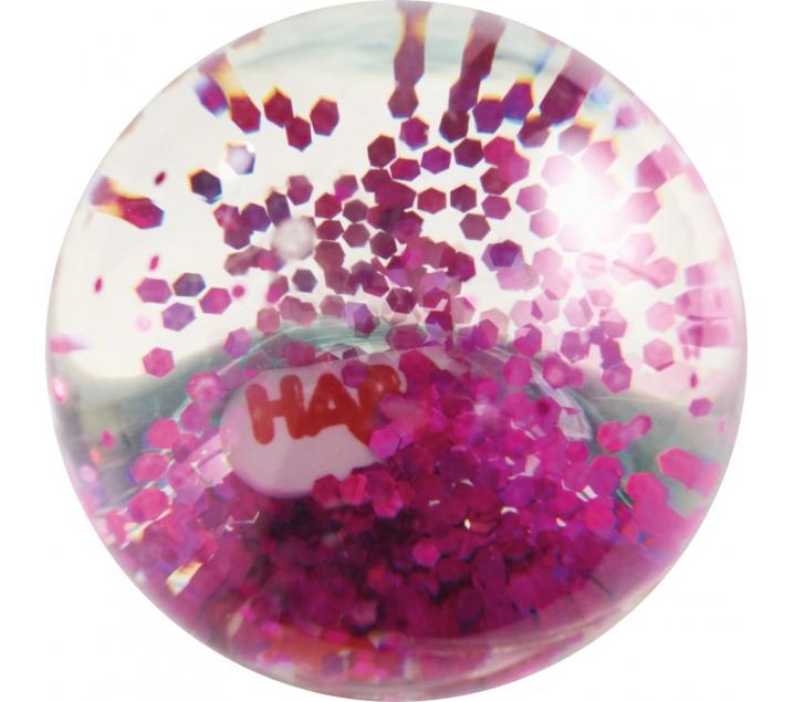 Pelotita de goma efecto purpurina