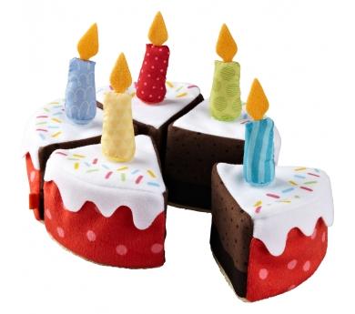 Pastís d'aniversari amb espelmes