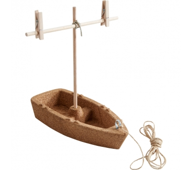 Kit para construir un barquito de corcho