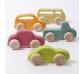 Conjunto de 5 coches de madera delgados