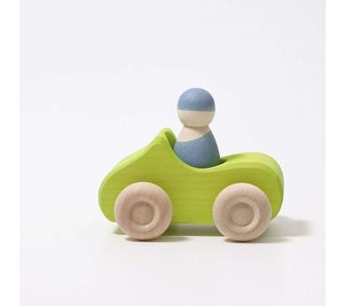 Cotxe verd descapotable de fusta petit