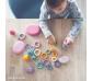 Anelles de construcció color pastís