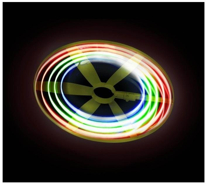 disc volador amb llum