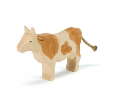 Figura de fusta Ostheimer - Vaca marró de peu