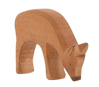 Figura de madera Ostheimer -  Ciervo comiendo