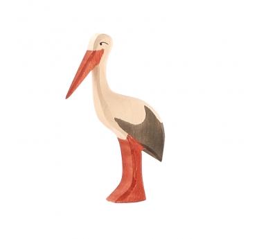 Figura de madera Ostheimer - Cigüeña