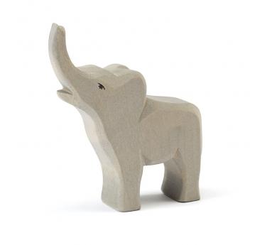 Figura de madera Ostheimer - Elefante pequeño con trompa hacia arriba