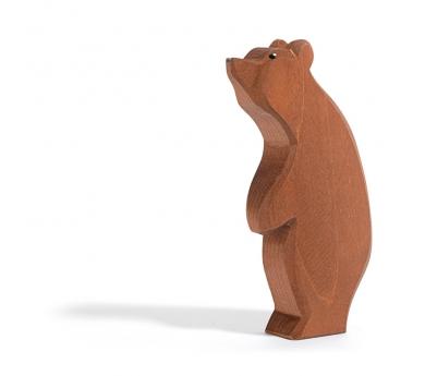 Figura de madera Ostheimer - Oso de pie con la cabeza hacia arriba