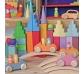 Bloques en escalera color pastel de Grimm's