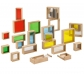 Bloques de construcciones translúcidos, con espejo y rellenables