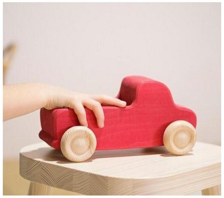 Camió de fusta de càrrega