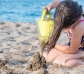 Cono de agua y arena