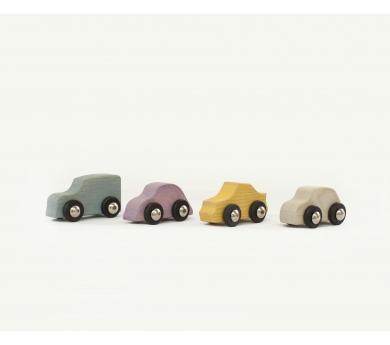 Conjunto de coches de juguete icónicos