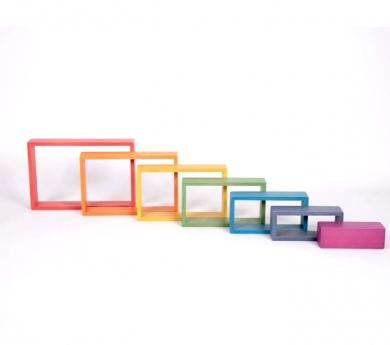 7 Marcos rectangulares arco iris