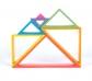 7 Marcos triangulares arco iris