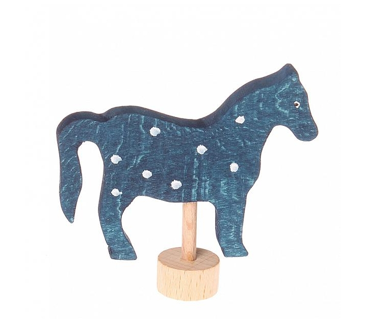 Grimm's. Figura celebraciones caballo azul