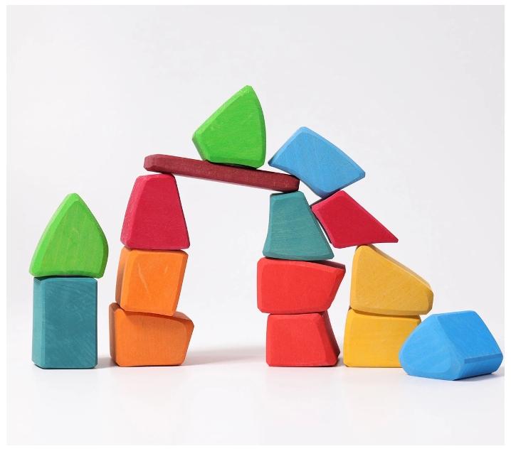 Grimm 's. Blocs de construcció irregulars Waldorf