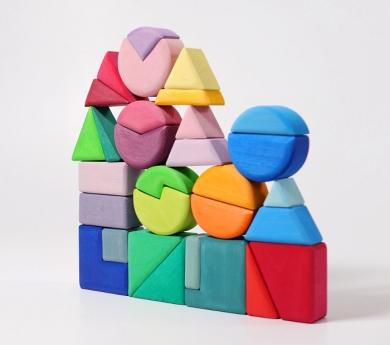 Grimm's. Bloques de construcción geométricos y rompecabezas