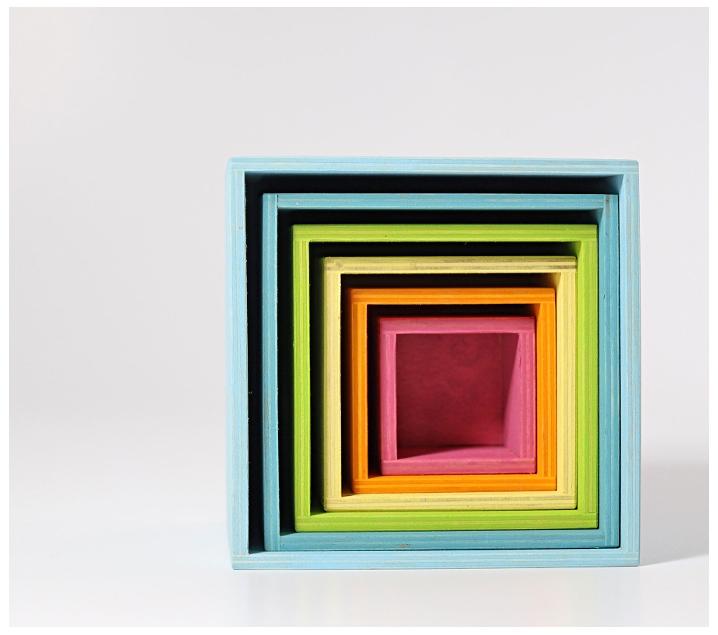 Grimm's. Cubos apilables grandes color pastel