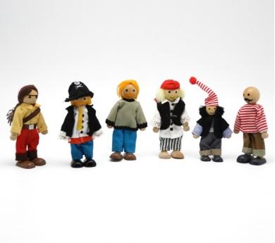 Grupo de piratas articulados