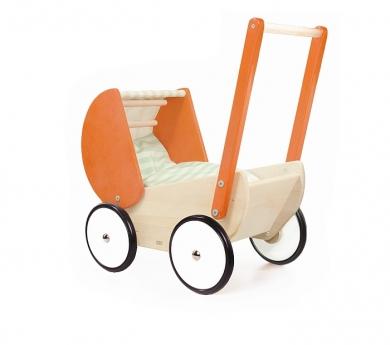 Carrito de muñecas de madera orange
