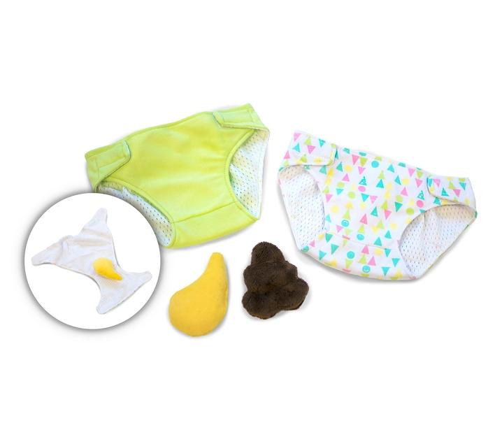 Pañal con pipí y caca para Rubensbarn Baby