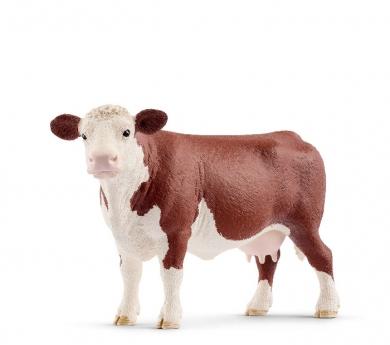 Vaca con manchas marrones