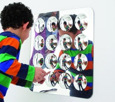 Espejo convexo de 16 domos