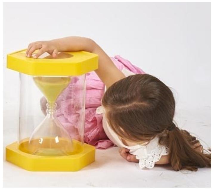 Rellotge de sorra gegant 3 minuts