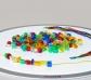 Cuentas de plástico translúcido