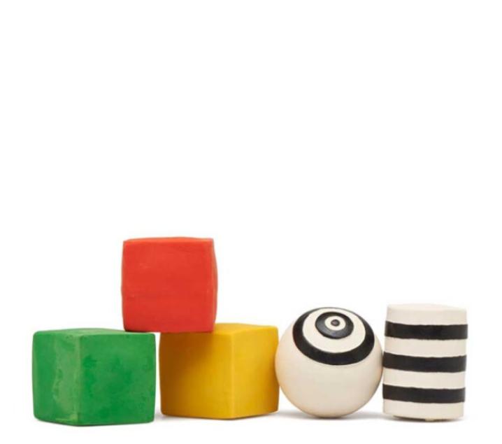 Set geométrico de caucho natural