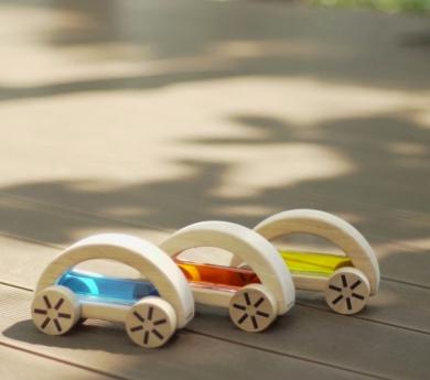 Cotxe de fusta Aiguamòvil