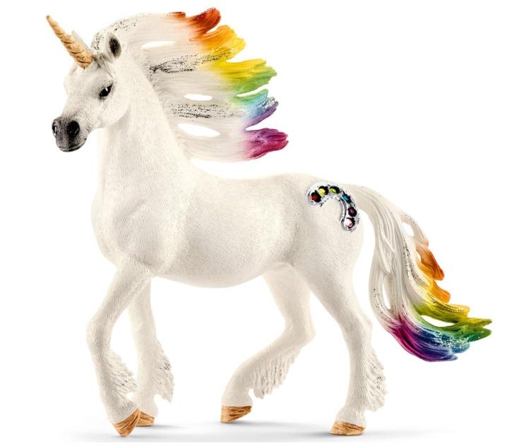 Unicornio macho arco iris