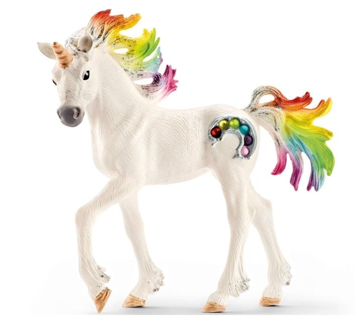 Potro de unicornio arco iris