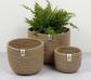 Conjunto de 3 cestos de yute altos naturales