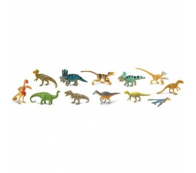 Tubo de dinosaurios con plumas