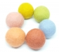 Conjunto de 6 bolas de lana cardada