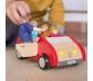 Cotxe de joguina de fusta per a ninots articulats