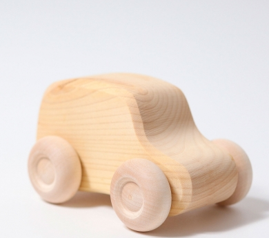 6 coches de madera natural