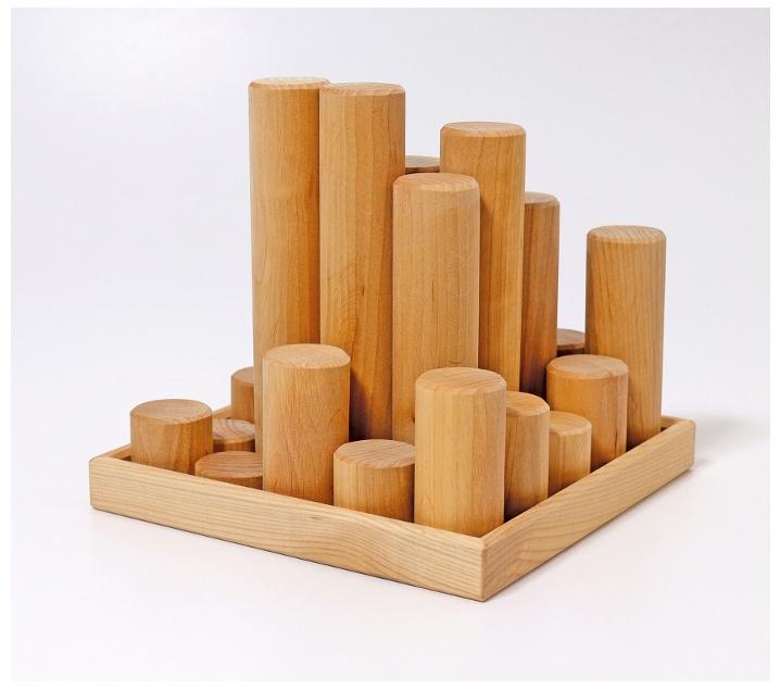 Grimm 's. Cilindres de construcció en fusta natural