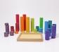 Grimm's. Cilindros de construcción en madera, colores arcoriris