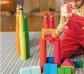 Grimm 's. Cilindres de construcció en fusta, colors arc de Sant Martí