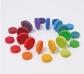 Grimm's. Monedas de madera colores del arco iris