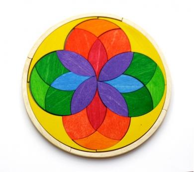 Mandala de Madera Iris