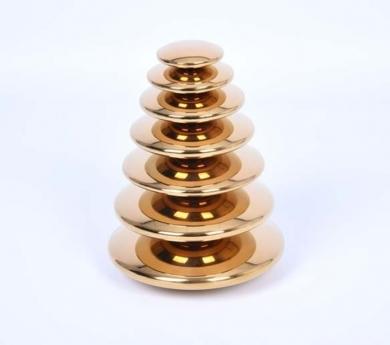 Botons sensorials reflectants daurats