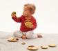Botones sensoriales reflectantes dorados