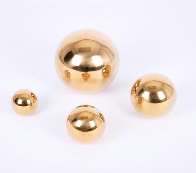 Bolas reflectantes de acero inoxidable doradas